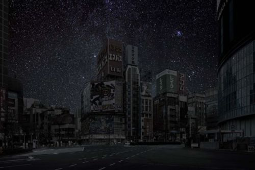 Tokyo, from Thierry Cohen's Darkened Cities Series
