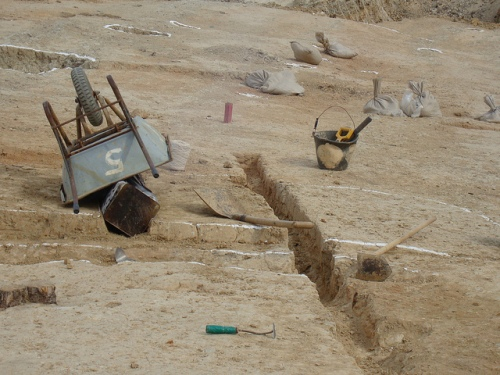 Shilla, South Korea - archaeology, planum