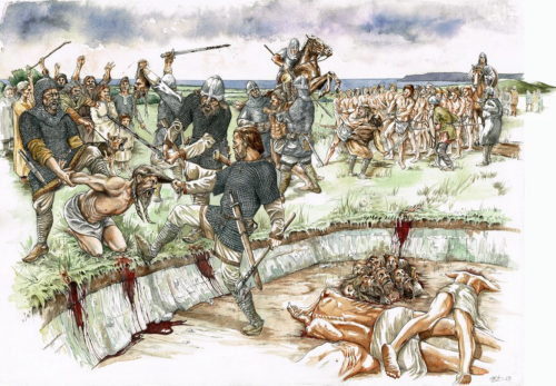 Mark Gridley's Reconstruction of a Viking Burial Pit.